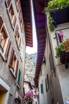 Old town of Limone Lake Garda Italy