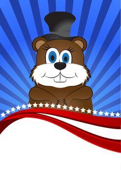 greeting card on Groundhog day