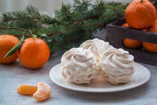 Tangerines flavour marshmallows or zephyr Christmas treat