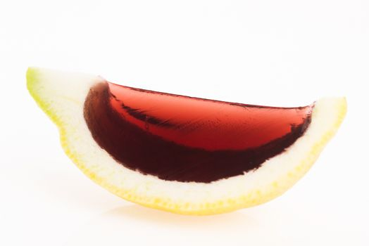 Jelly (jello) shots made out of carved lemon
