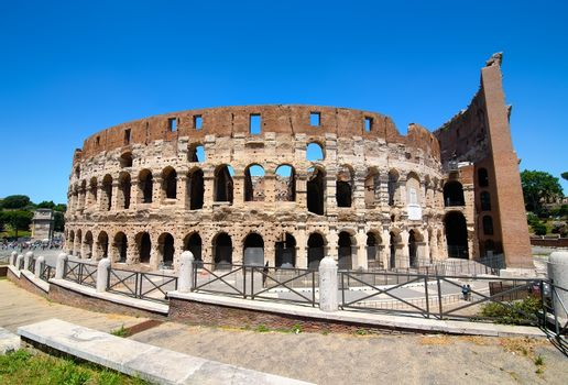 Colosseum and the Clear Sky