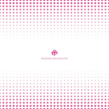 Abstract halftone pink color on white background for wedding card. Vector illustration