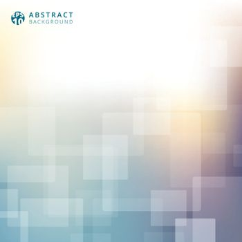 Abstract blurred background template. Technology business square rounded texture. Vector illustration