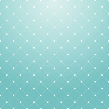 Striped repeating geometric square tiles with dotted rhombus. Modern stylish texture. Vector pattern blue background.