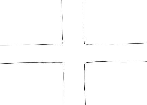 Outlined Symmetrical Nordic Cross Flag