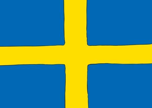 Swedish Nordic Cross Flag