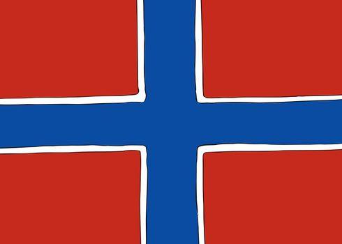 Symmetrical Nordic Cross Flag for Norway