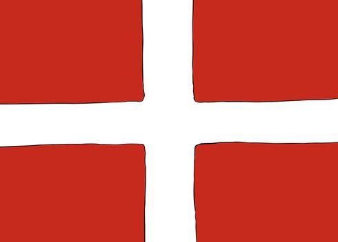 Symmetrical Nordic Cross Flag for Denmark