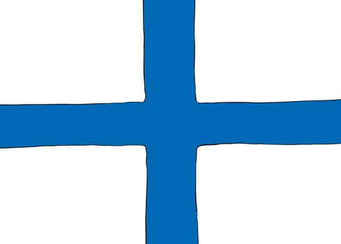 Symmetrical Nordic Cross Flag for Finland