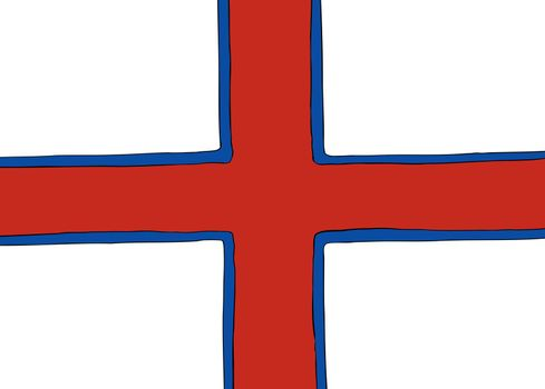 Symmetrical Nordic Cross Flag