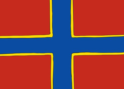 Nordic Cross Flag for the Orkney Islands