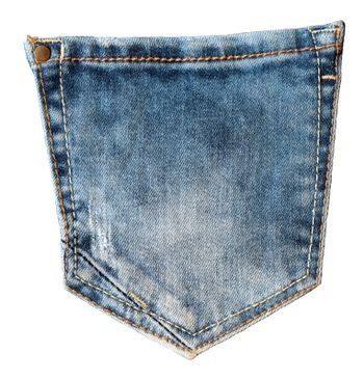 Back trouser jeans pocket. Fashion modern style