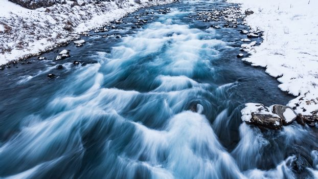 Drifting river in Iceland
