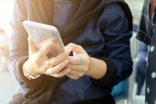 Woman Using a Smart Phone, Communication