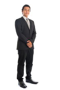 Full body Asian businessman portrait
