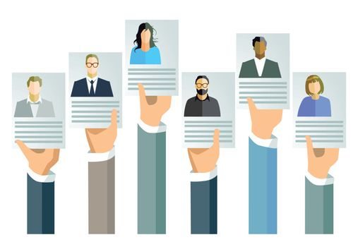 Application, job offer concept
