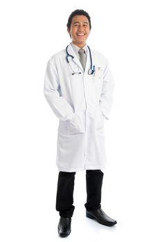 Full body medical doctor portrait