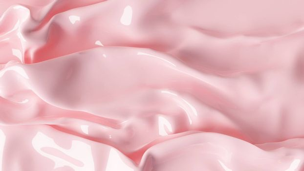 3D Illustration Abstract Pink Background with Glare