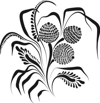 Graceful vector flowers