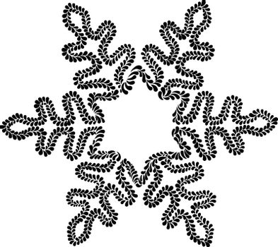 Beautiful openwork snowflake