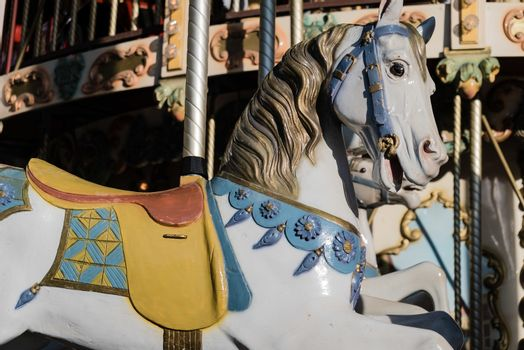 Horse on a french merry-go-round