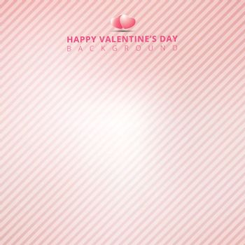 Pink background with striped diagonal lines for valentines day. Vector illustration