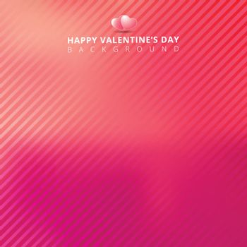 pink background with stripes diagonal pattern for valentines day card. Vector illustration