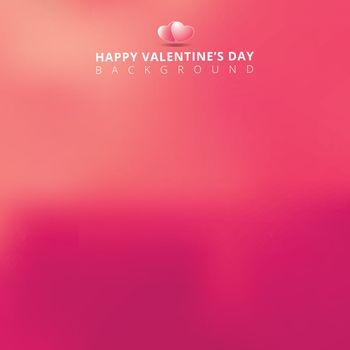 pink blurred background for valentines day card. Vector illustration