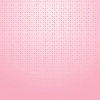 Pink halftone with dots pattern on pink gradient background for valentines day. wedding card. Vector illustration