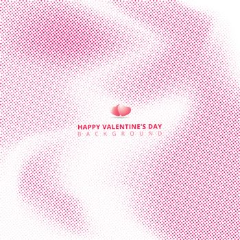 Abstract pink halftone on white background with hearts for valentines day, wedding card. Vector illustration