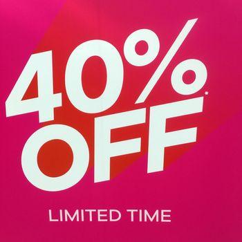 Sale Sign 40% Off