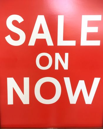 Sale On Now signage