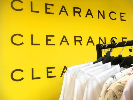 Clearance Sale Sign Banner for clothing shop