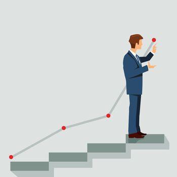 Career plan, symbol illustration