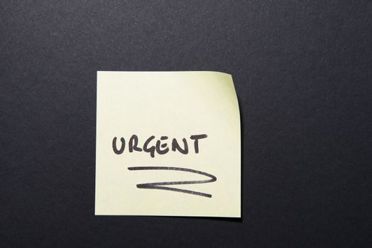 a reminder with the word Urgent