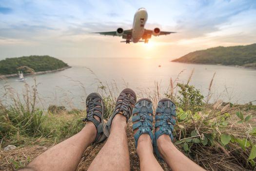 leg travel At the mountain View