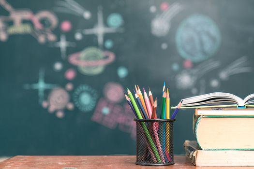 Education concept - books on the desk
