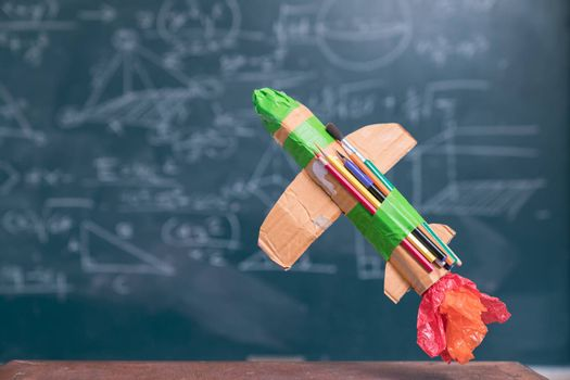 education Go to school with a rocket