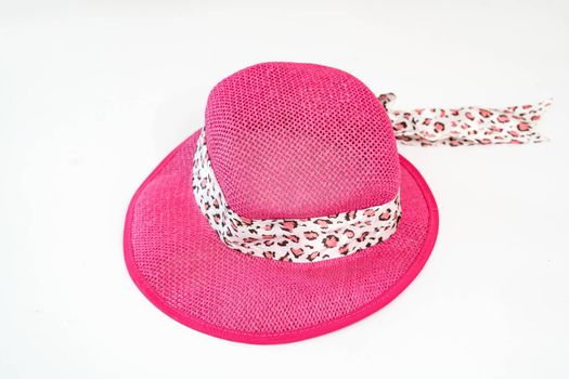 Isolated of Straw hat fashion for women on white background