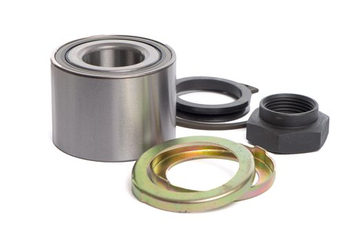 Steel bearing to the vehicle on a white background.