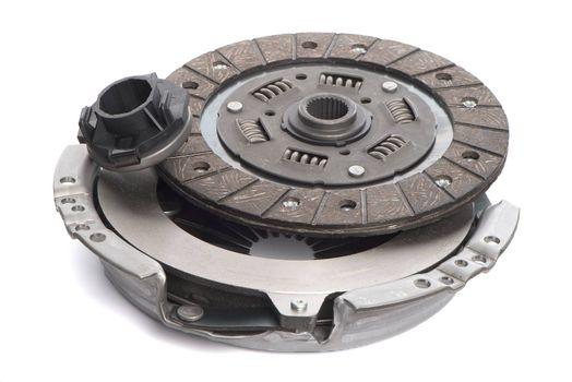 Car clutch isolated on white background.
