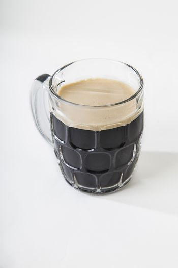 Stout beer in a mug