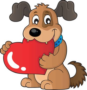 Valentine dog theme image 1 - eps10 vector illustration.