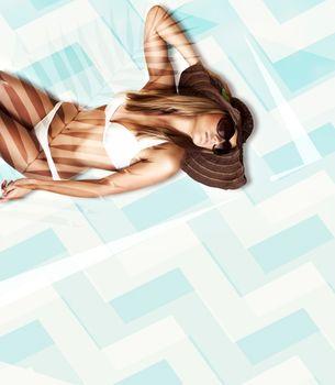 Model posing in bikini