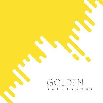 Golden irregular rounded lines background. Vector illustraion