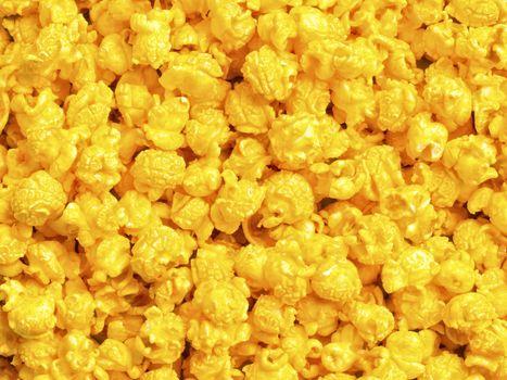 golden cheese popcorn food background