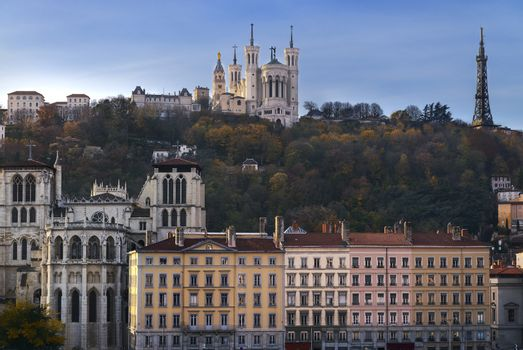 Lyon and fourviere hill