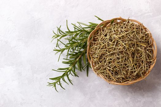fresh and dried rosemary