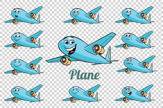 airplane plane airliner aviation emotions characters collection