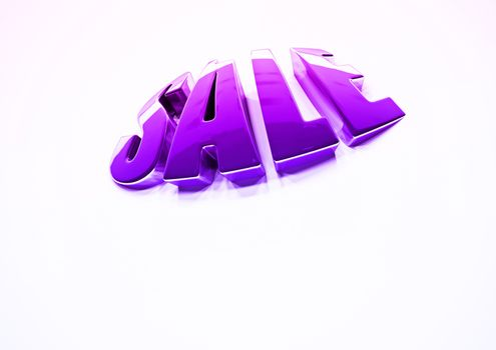 Dimensional inscription of SALE. 3D rendering.